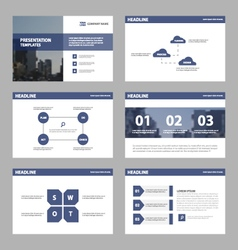 Violet Abstract presentation templates Infographic vector