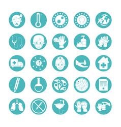 virus covid19 19 pandemic respiratory illness icon vector image