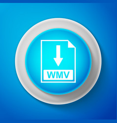 wmv file document icon download wmv button sign vector image