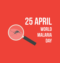 World malaria day on red background vector