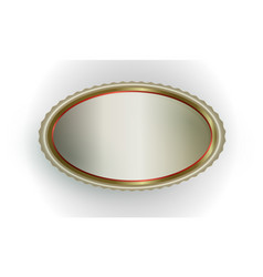 Exquisite light oval frame vector