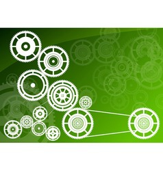 green machinery vector image