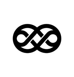 Knot black logo vector image