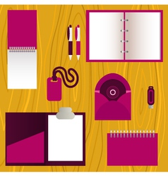Set of mock-up corporate identity objects vector image