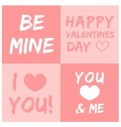 Valentines day and typography element vector image