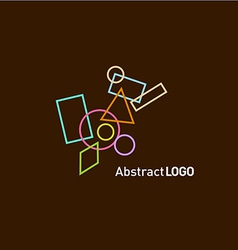 Abstract shapes set logo template vector image