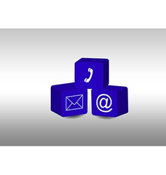 Cubes with communication symbols vector image