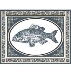 fish antique vector image vector image
