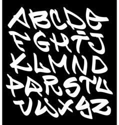 Graffiti font alphabet letters Hip hop type vector image vector image