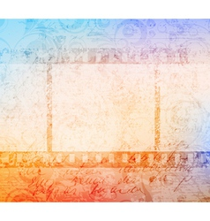 grungy filmstrip vector image vector image