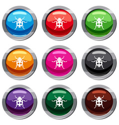 ladybug set 9 collection vector image