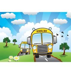 school buses vector image vector image