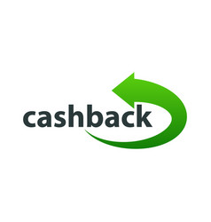 template logo for cashback service vector image vector image