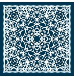 Blue scarf design with geometric pattern vector image