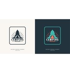 Camping and outdoor adventure retro logo vector image