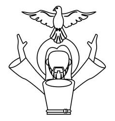 jesus christ holy spirit catholic symbol outline vector image