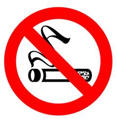 No smoking red sign vector