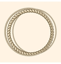 Round marine ropes frame for text vector image