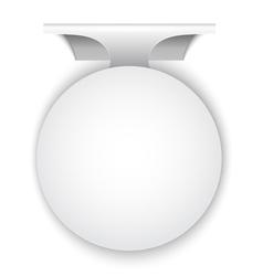 White paper advertising wobbler vector image