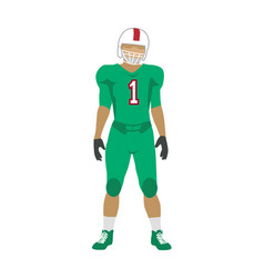 american football player in uniform and helmet vector image vector image