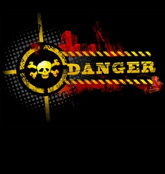 black urban grunge danger skull detailed vector image