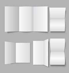 blank white document leaflet 3d advertising vector image