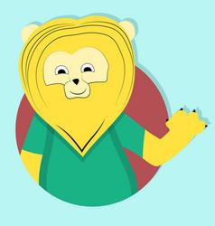 lion cartoon icon emblem vector image vector image