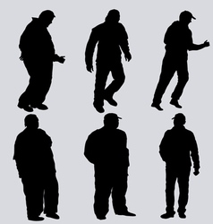 silhouettes of obese men vector image vector image