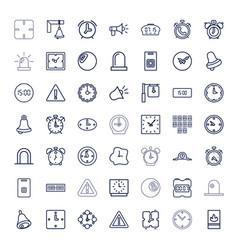 49 alarm icons vector