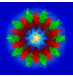 Abstract polygon vane vector