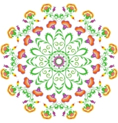 Abstract round ornament mandala with indian vector image