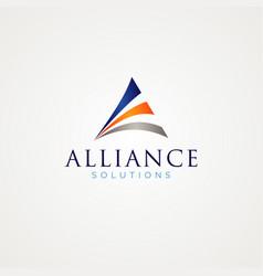 Abstract triangle logo design symbol vector