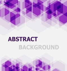 Abstract violet hexagon overlapping background vector image