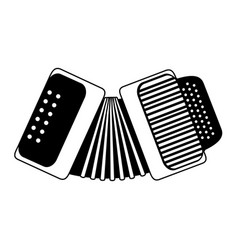Accordion musical instrument icon image vector