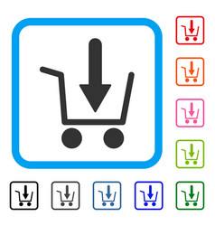 add to basket framed icon vector image