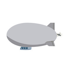 airship zeppelin modern design flat style vector image