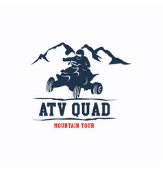 Atv quad logo template design vector