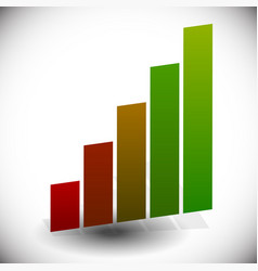 bar chart bar graph element isolated on white vector image