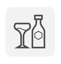 beverage icon black vector image