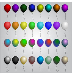 Big set of colorful balloons vector
