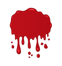 blood splash or drop vector image