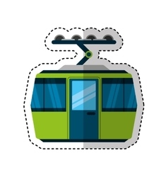 Cableway transport isolated icon vector