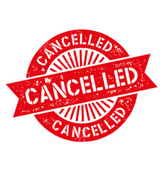cancelled stamp vector image