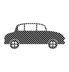 Car sign on white vector image