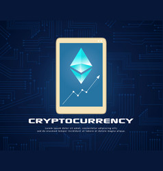 collection background cryptocurrency style design vector image