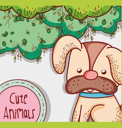 Cute dog in the park vector