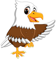 cute eagle cartoon vector image