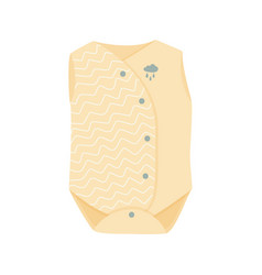 Cute yellow baby clothes isolated vector