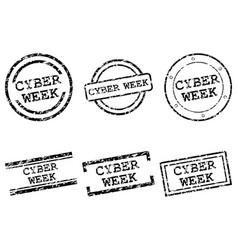 cyber week stamps vector image