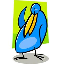 doodle bird vector image